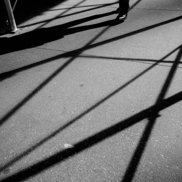 """Scaffolding Shadows Walk"" stock image"