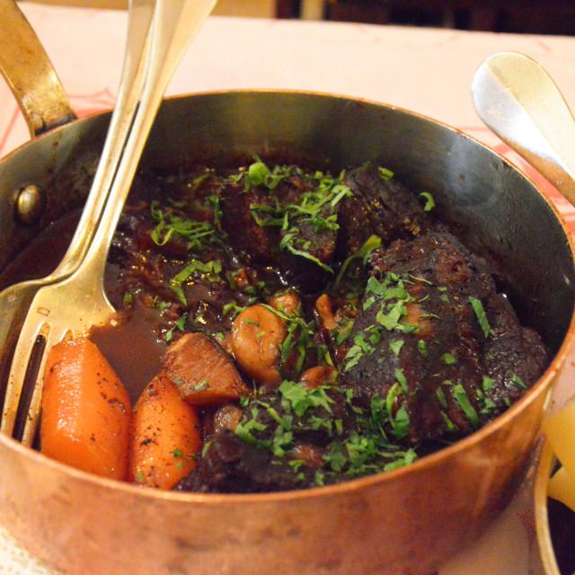 """""""Beef bourguignon"""" stock image"""