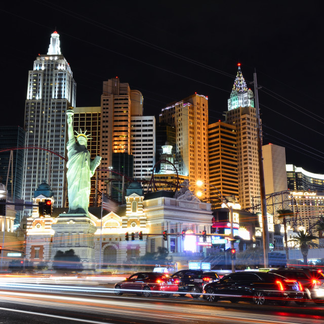 """New York New York hotel and casino in Las Vegas."" stock image"