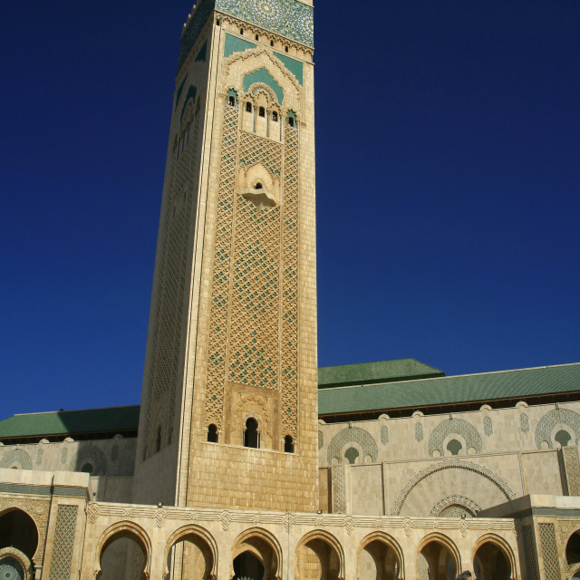"""The Hassan II Mosque, in Casablanca is the largest mosque in Morocco and the..."" stock image"