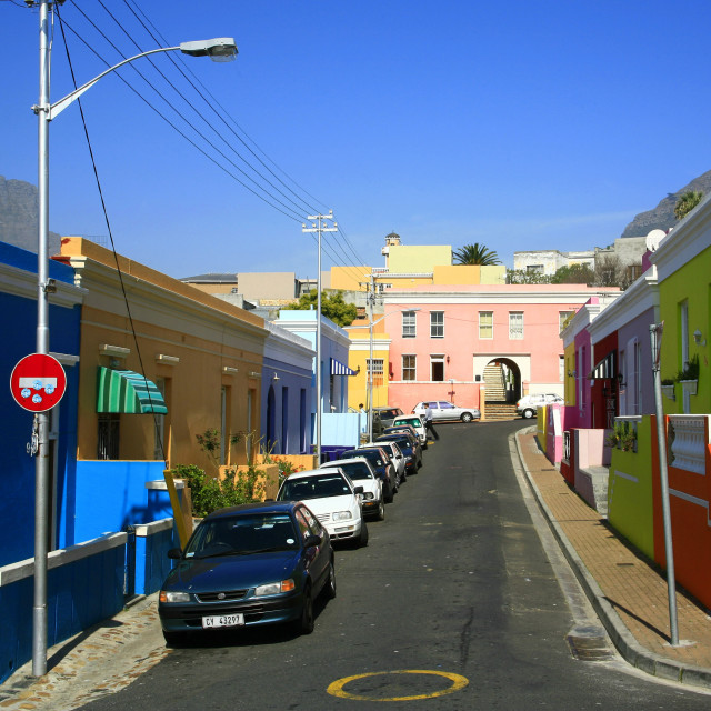 """""""Cape Town, South Africa. Bo Kaap area, historic Malay quarter. 09-19-2007"""" stock image"""