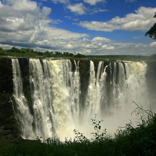 """Victoria Falls, Zimbabwe. 11-29-2007"" stock image"