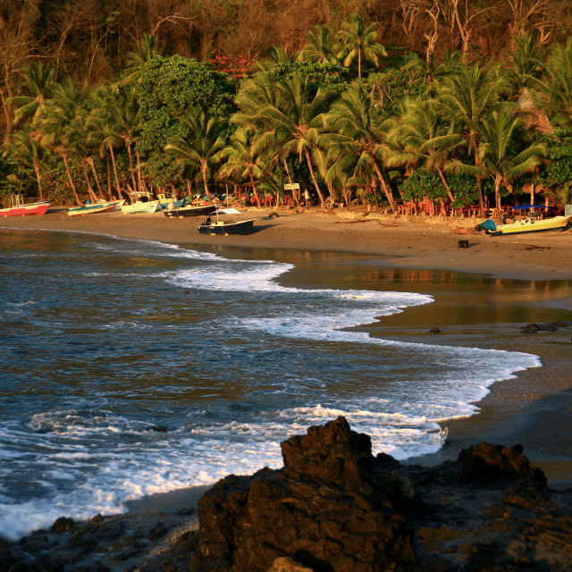 """small beach of Montezuma, Costa Rica. 05-01-2006"" stock image"