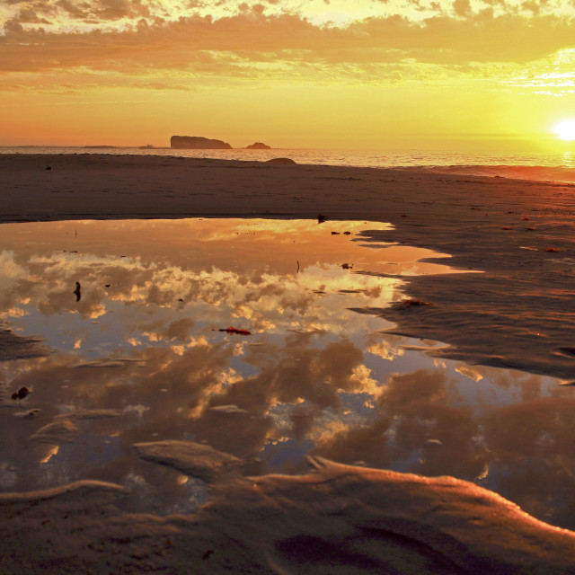 """Clifton Beach sunset, Cape Town, South Africa. 03-31-2006"" stock image"