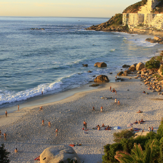 """Clifton 2nd Beach, Cape Town, South Africa. 10-28-2007October 28, 2007{iptc..."" stock image"