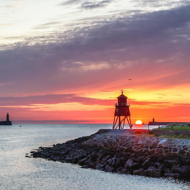 """""""Tynemouth Sunrise"""" stock image"""