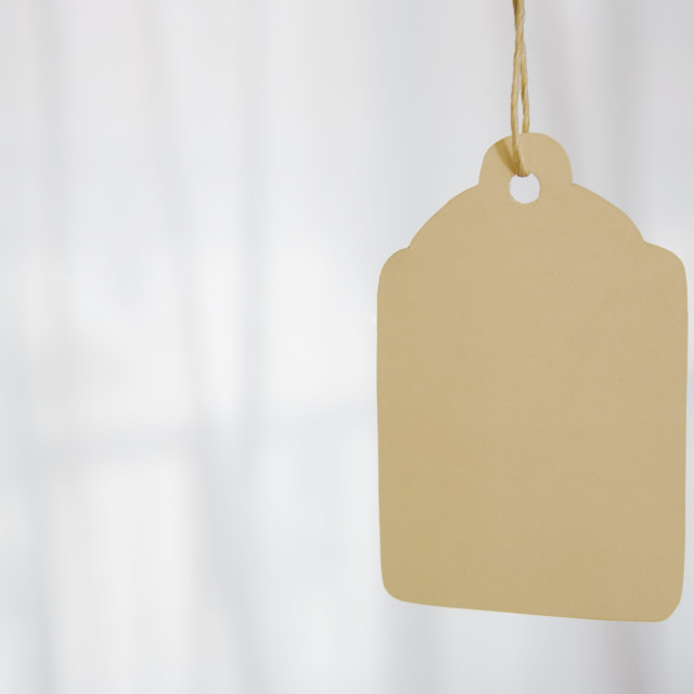 """A Tag On A String"" stock image"