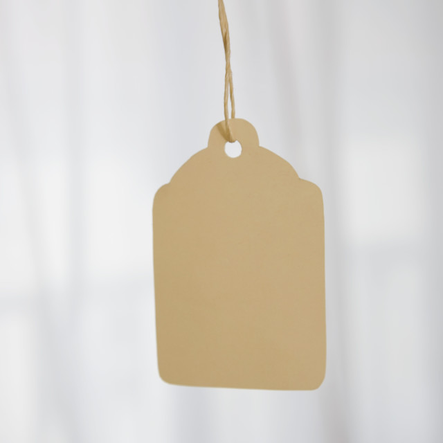 """""""A Tag On A String"""" stock image"""