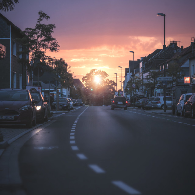 """Sunset in Dortmund Berghofen"" stock image"