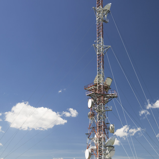 """Telecommunications Tower; Alberta, Canada"" stock image"