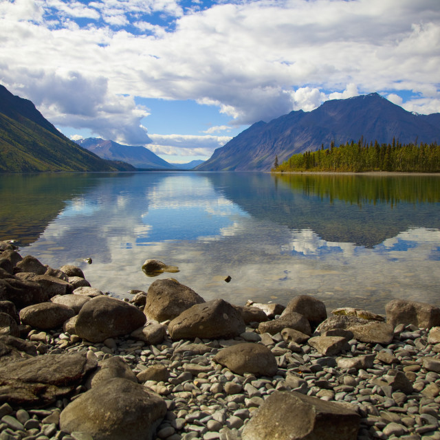 """""""Kathleen Lake In Kluane National Park And Reserve In The Yukon Wilderness;..."""" stock image"""