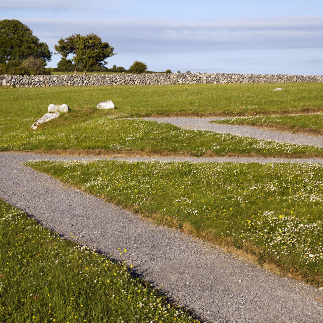"""Pathway In Irish Landscape; Ballyvaughan, County Clare, Ireland"" stock image"