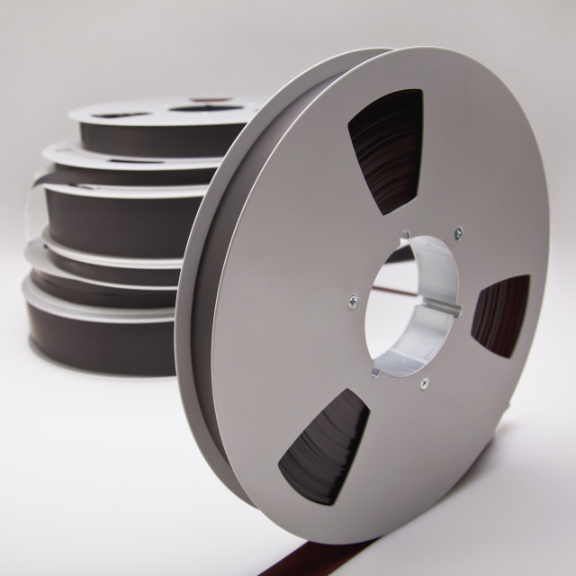 """Audio Recording Tape On Reels"" stock image"