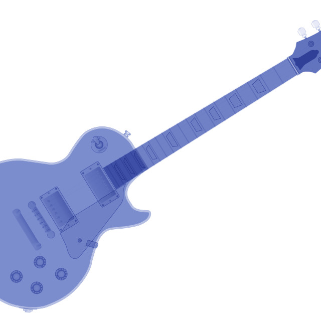 """""""Solid Blue Guitar"""" stock image"""