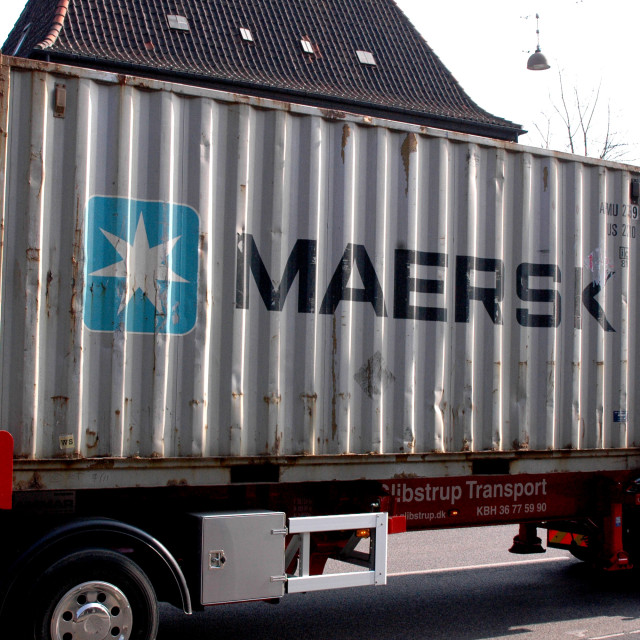 """""""maersk container"""" stock image"""