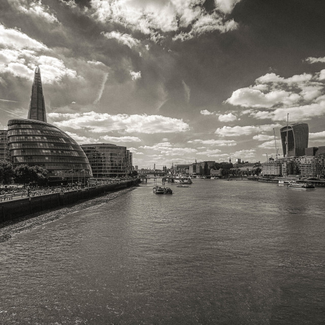 """""""Thames on a Sunny Day"""" stock image"""