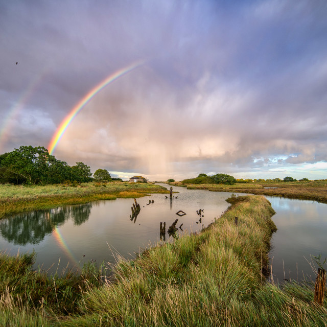 """swallows, Rainbows and Reflections"" stock image"