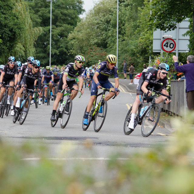 """Tour of Britain Stage 4"" stock image"