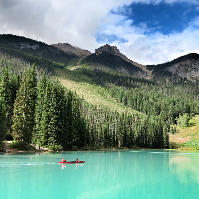 """Emerald lake canada Banff national park"" stock image"