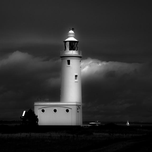"""Hurst Spit Lighthouse"" stock image"
