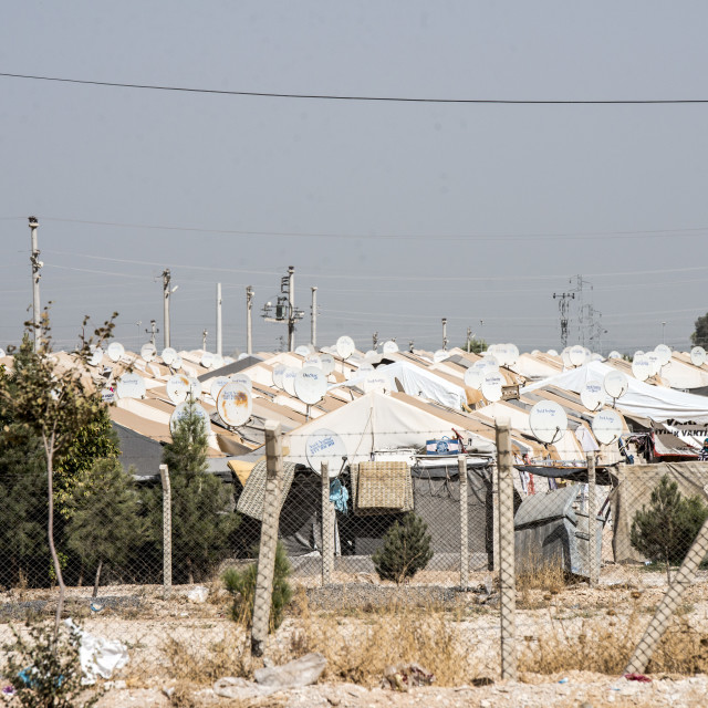 """refugee camop in Akcakale"" stock image"