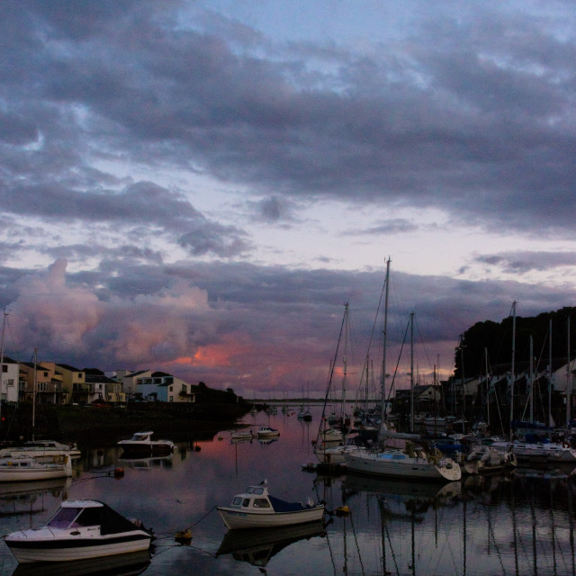 """Porthmadog Harbour"" stock image"