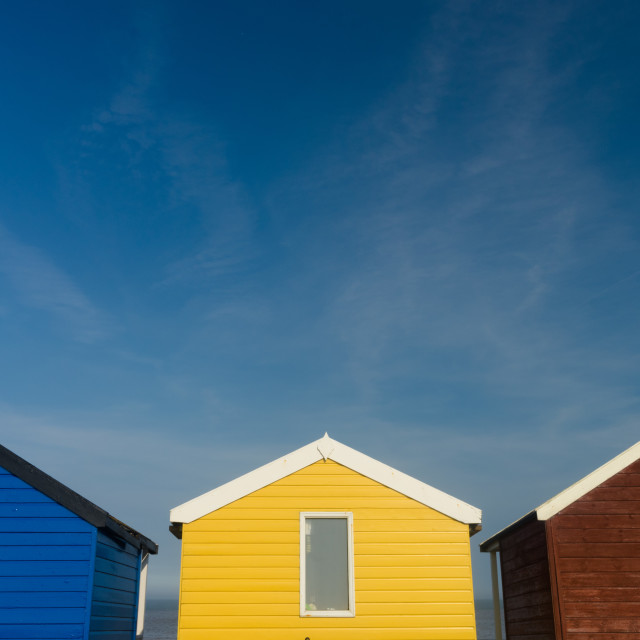 """Beach Huts"" stock image"