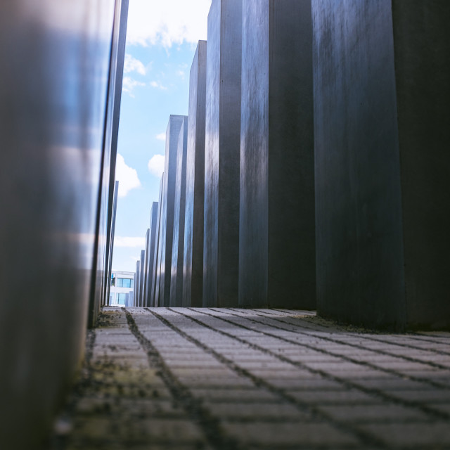 """Holocaust Memorial, Berlin, Germany, Europe"" stock image"