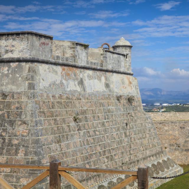 """""""Castillo de San Pedro de la Roca del Morro (Castillo del Morro), UNESCO World..."""" stock image"""