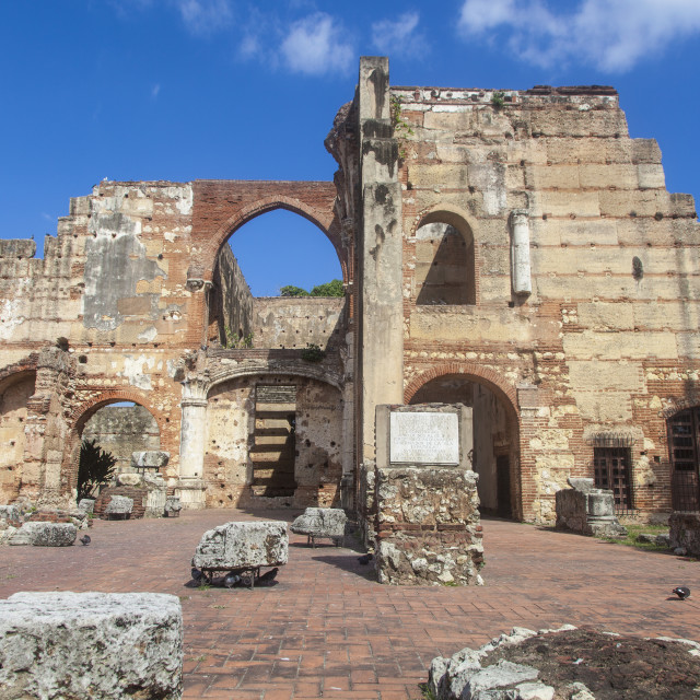 """""""Ruinas del Hospital San Nicolas de Bari, Colonial Zone, UNESCO World Heritage..."""" stock image"""