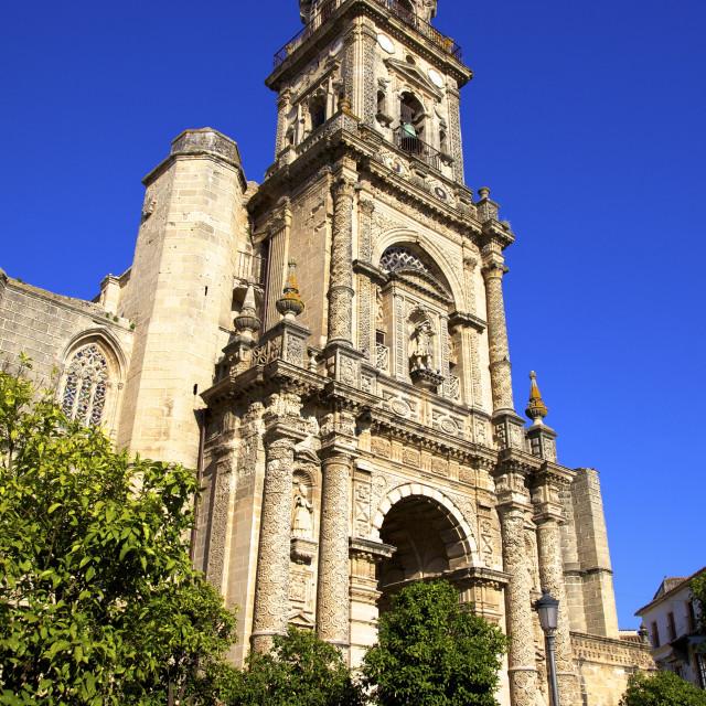 """Church of San Miguel, Jerez de la Frontera, Cadiz Province, Andalucia, Spain,..."" stock image"