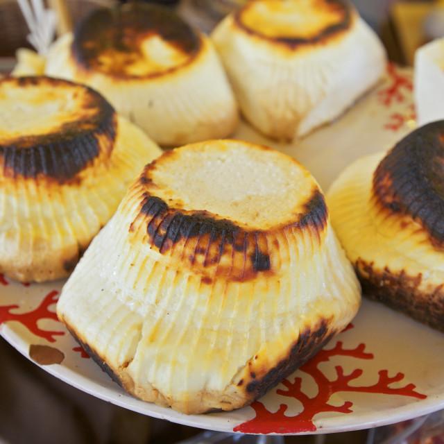 """Ricotta Cheese, Ortygia, Syracuse, Sicily, Italy, Europe"" stock image"