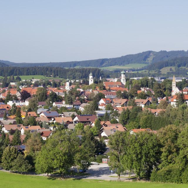 """Isny, Upper Swabia, Baden Wurttemberg, Germany"" stock image"