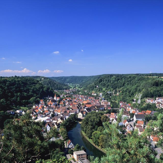 """Sulz am Neckar, Neckartal Valley, Baden Wurttemberg, Germany, Europe"" stock image"