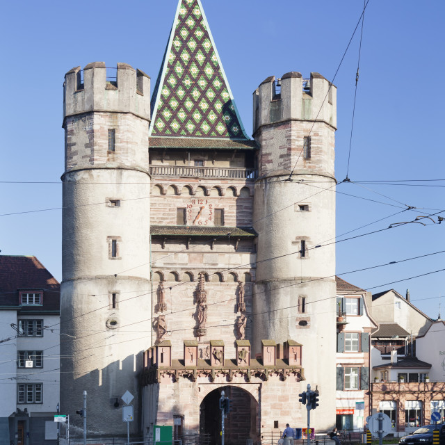 """Spalentor Gate, Basel, Canton Basel Stadt, Switzerland, Europe"" stock image"