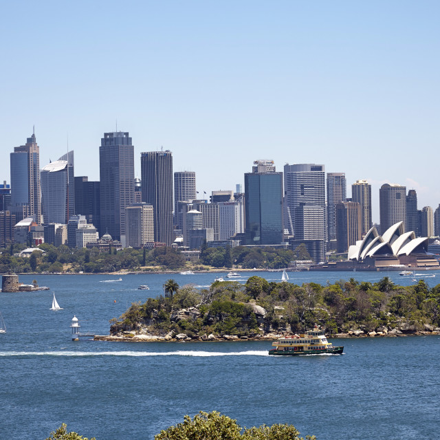 """Sydney Harbour, Sydney, New South Wales, Australia, Pacific"" stock image"