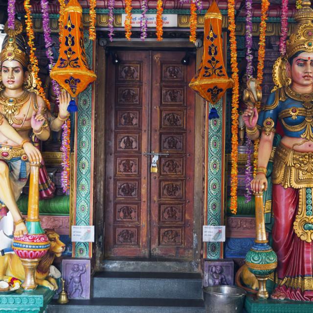 """Sri Vadapathira Kaliamman Hindu Temple, Little India, Singapore, Southeast..."" stock image"