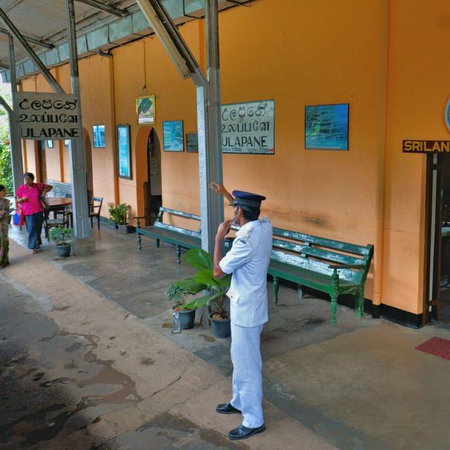 """Ulapana Railway Station"" stock image"
