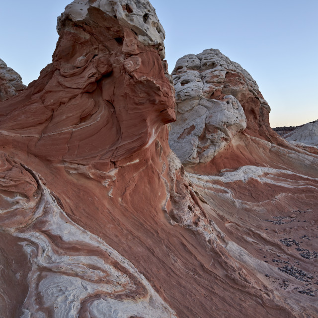 """""""White and pink sandstone formations, White Pocket, Vermilion Cliffs National..."""" stock image"""