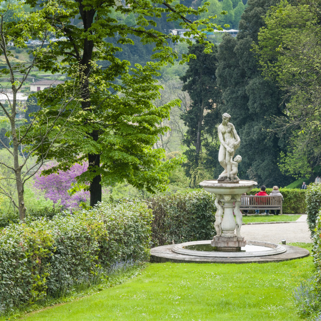 """Giardino Bardini, Florence (Firenze), UNESCO World Heritage Site, Tuscany,..."" stock image"
