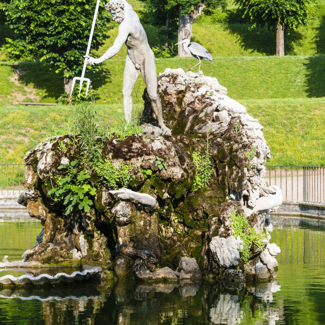 """The Neptune fountain, Boboli gardens, Florence, UNESCO World Heritage Site,..."" stock image"