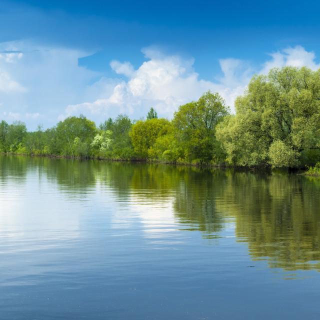 """Emajogi River, Tartu, Estonia, Baltic States, Europe"" stock image"