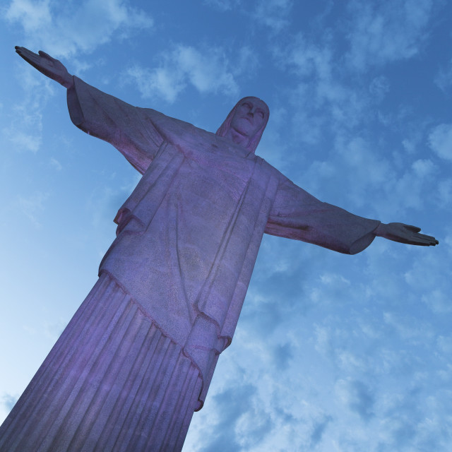 """""""Statue of Christ the Redeemer, Corcovado, Rio de Janeiro, Brazil, South America"""" stock image"""