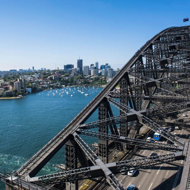 """Sydney Harbour Bridge, Sydney, New South Wales, Australia, Pacific"" stock image"