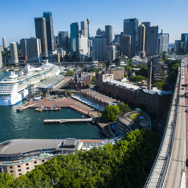 """View over Sydney, New South Wales, Australia, Pacific"" stock image"