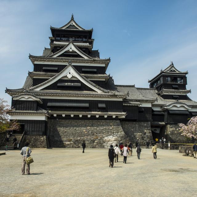 """""""Kumamoto Japanese Castle, Kumamoto, Kyushu, Japan, Asia"""" stock image"""