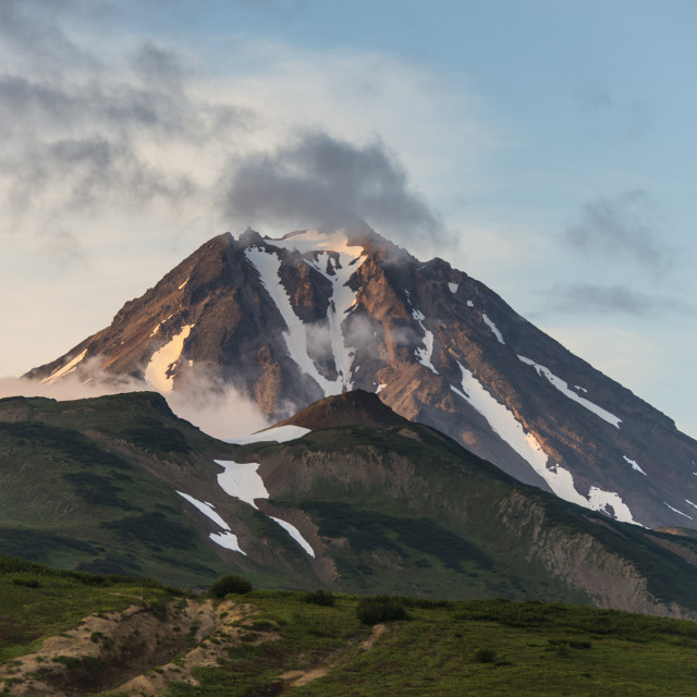 """Vilyuchinsk volcano, Kamchatka, Russia, Eurasia"" stock image"