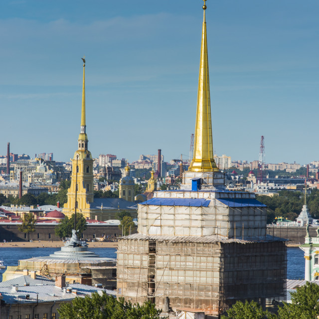 """View from the Saint Isaac's Cathedral, St. Petersburg, Russia, Europe"" stock image"
