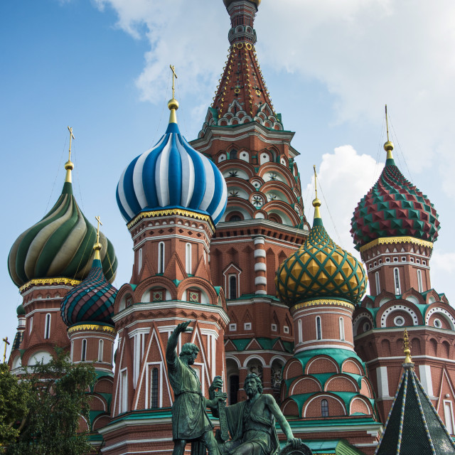 """""""St. Basil´s Cathedral on Red Square, UNESCO World Heritage Site, Moscow,..."""" stock image"""