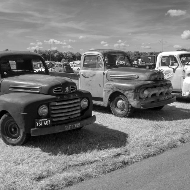 """50s Pick up trucks"" stock image"